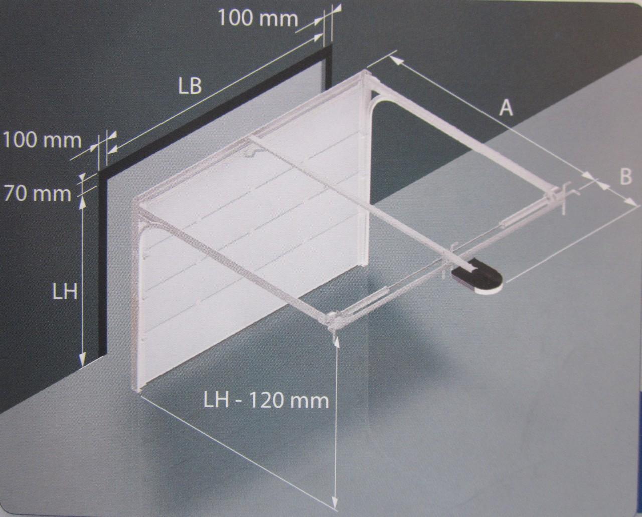 Charming Lichte Öffnungshöhe   120mm U003d Durchgangshöhe Bei Geöffnetem Garagentor