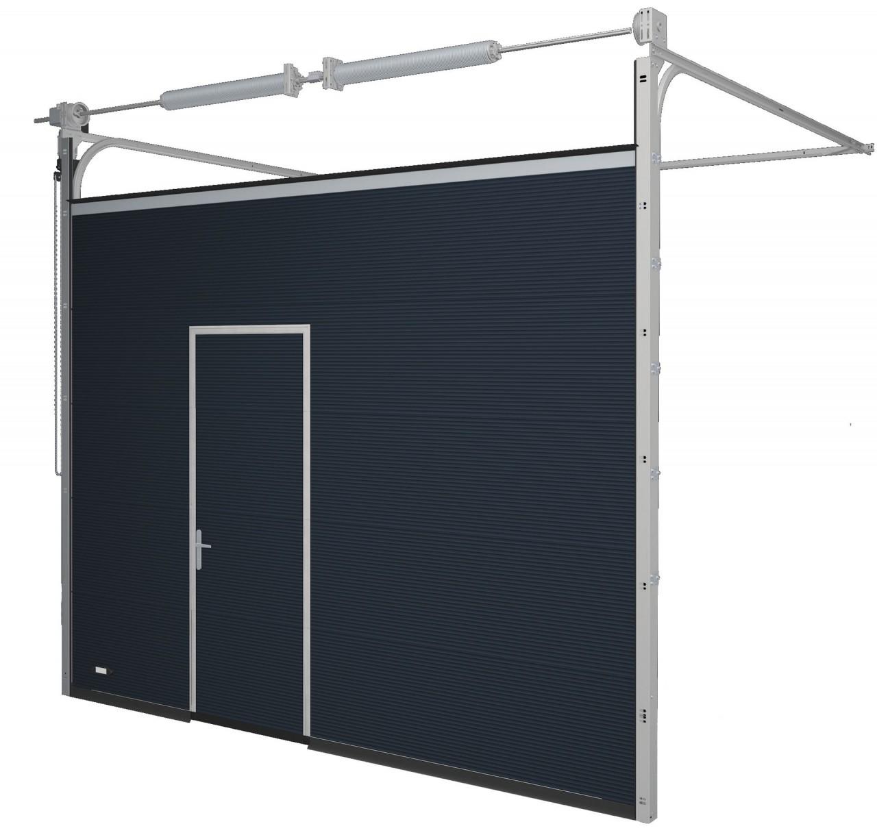 Garagentor mit integrierter tür  Schlupf- und Nebentüren Sektionaltore